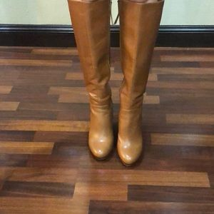 Wedge nine west size 7.5 tall boots